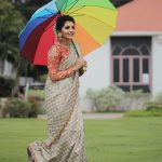 Athulya Ravi, instagram post, saree, large size