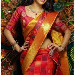 Avanthika Mohan,  Upcoming Tamil Actress, ad, red saree