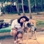 Dayana Erappa, pet animal, dog, ccv actress