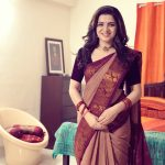 Dhivyadharshini, saree, traditional look