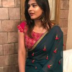 Hebah Patel, green saree