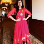 Hebah Patel, red dress, function