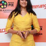 Indhuja, event, yellow dress, actress, boomerang