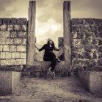 Indhuja, latest, black dress, boomerang