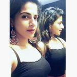 Iswarya Menon, Top 10 Selfies, black inner, light
