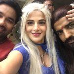 Iswarya Menon, cute Selfies, shiva,sathish, Tamizh Padam 2
