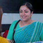 Jyothika, Kaatrin Mozhi, blue saree
