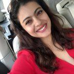 Kajol, selfie, car, red dress