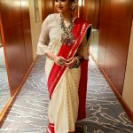 Keerthy Suresh, cute, saree, full size