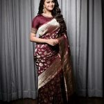 Keerthy Suresh, recent, saree, full size, jfw awards
