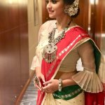 Keerthy Suresh, saree, Saamy Square, hd, cute, Mahanati