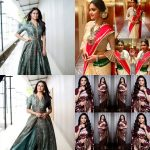 Keerthy Suresh, saree, collage, unseen