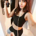 Komal Jha, Glamour Actress, 2 piece, gym work out