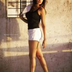 Komal Jha, Glamour Actress, black inners, white dowser