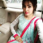 Komal Jha, Glamour Actress, car, selfie