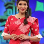 Lakshmi Manchu, Kaatrin Mozhi actress, red saree