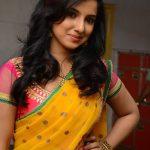 Leema Babu, Dhoni Kabadi Kuzhu Actress, yellow half saree