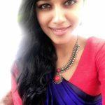 Mirnalini Ravi, Super Delux Actress, selfie, Saree
