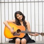 Monica Chinnakotla,  Genius Actress, photo shoot, gitar,