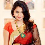 Monica Chinnakotla, Jiivi heroine, red saree, stunning look