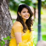 Monica Chinnakotla, Jiivi heroine, yellow saree, cute smile