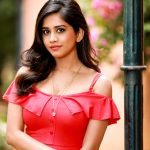Nannu Dochukunduvate, Nabha Natesh, red dress, unseen, wallpaper