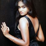 Neethu Vasudevan, black dress, back side, spicy