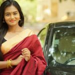 Neethu Vasudevan, red saree,  romantic