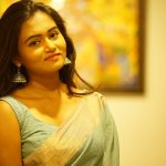 Neethu Vasudevan, saree, night