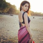New Tamil Actress, Vedhika, saree, back side, spicy