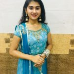 Nithyashree, singer, vijay tv, blue dress
