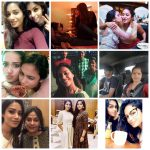 Nivetha Pethuraj, family, collage, hd, selfie
