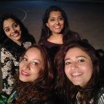 Poonam Bajwa, girls, selfie, friends
