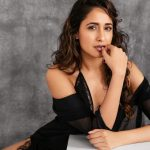Pragya Jaiswal, black dress, popular pose