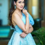 Pragya Jaiswal, blue dress, fashionable