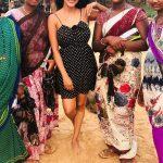 Priya Anand, LKG tamil Actress, black dress, naughty