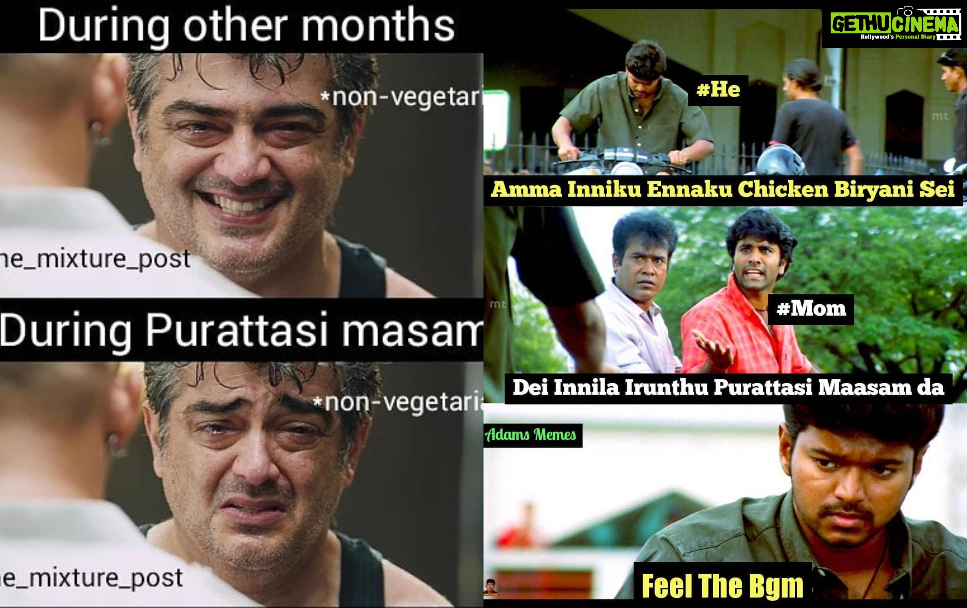 2018 Purattasi Maasam Viratham Funny Tamil Troll Memes Gethu Cinema