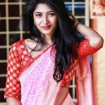 Roshni Prakash, pink saree, marvelous