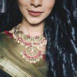 Sanchana Natarajan, Ra Ra Rajasekhar heoine, black saree