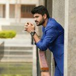 Shirish Sharavanan, blue dress, photoshoot