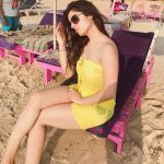 Siddhika Sharma, beach, yellow tops