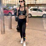 Siddhika Sharma, black dress, airport