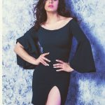 Siddhika Sharma, black dress, hip