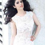 Sidhika Sharma, white dress, black hair