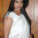 Suzane George, Raatchasan actress, white saree