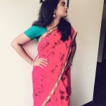 Suzane George, Ratsasan Actress, pink saree, rare