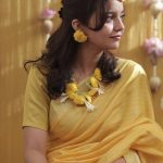 Swathi Reddy, Vikas, wedding, saree, yellow