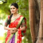 Vani Bhojan, saree,colourful, cute, latest, Kings of Comedy Juniorsis