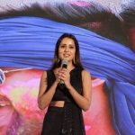 Varma Teaser Launch, raiza wilson, black dress