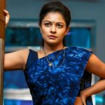 best kollywood celebrities, Pooja Kumar, blue saree, aunty